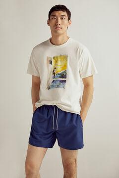 Pedro del Hierro Plain swim shorts Blue