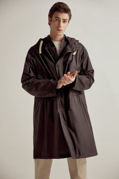 Pedro del Hierro Long technical parka Black