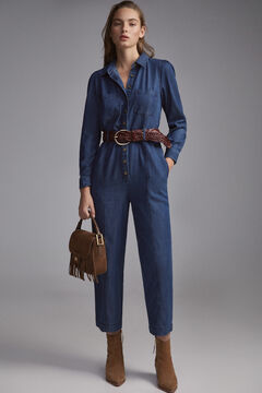 Pedro del Hierro Tencel® denim jumpsuit Blue