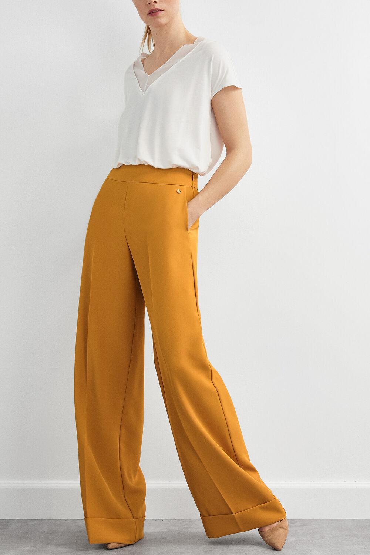 f3d38db5 Pedro del Hierro Wide leg trousers Yellow
