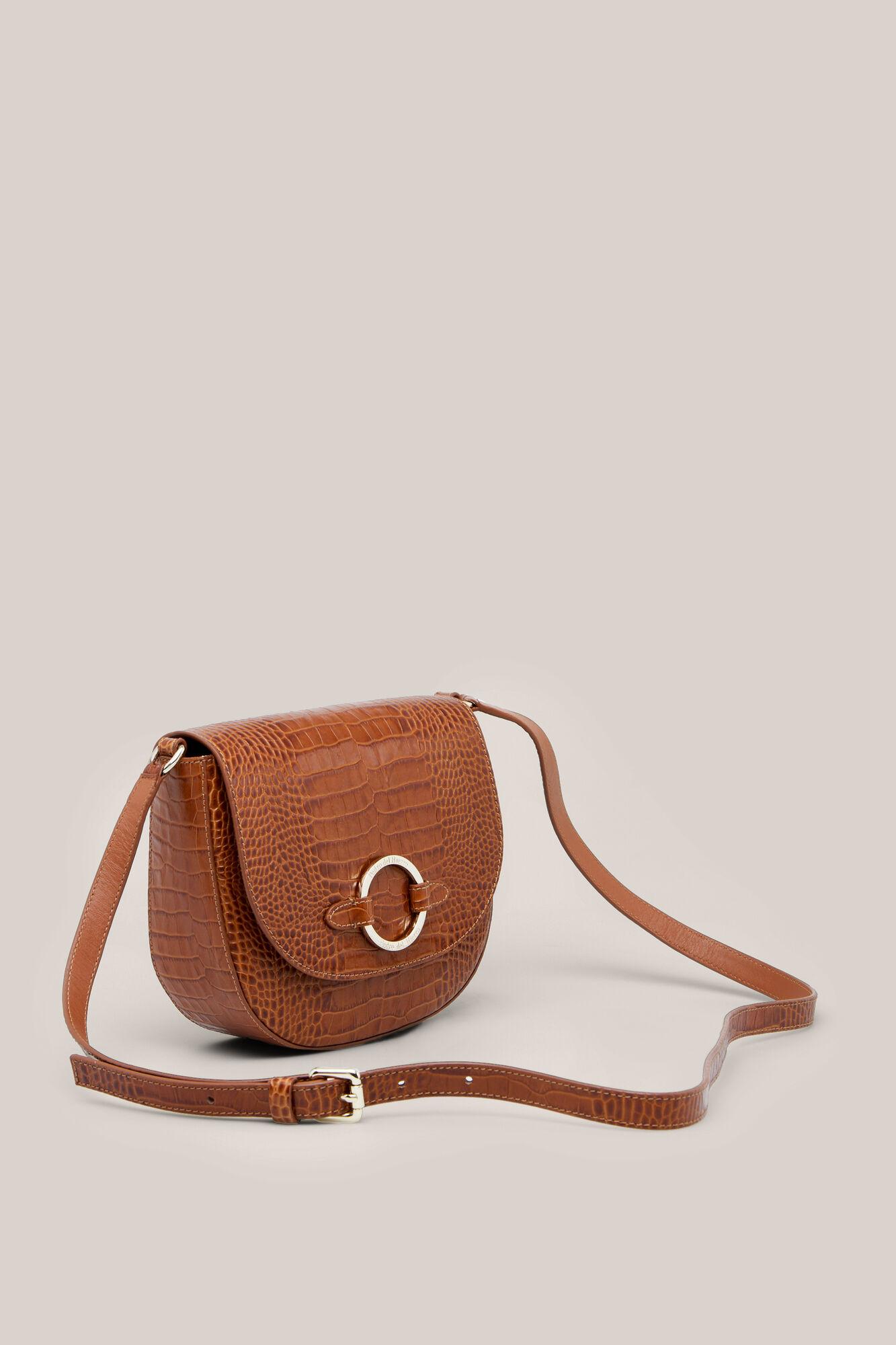 3bace919954 Crocodile effect leather crossbody bag