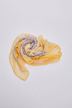 Pedro del Hierro Printed logo shawl Yellow