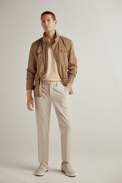 Pedro del Hierro TX Protect antimicrobial jacket Beige