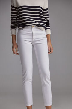 Pedro del Hierro Coloured satin push-up trousers White