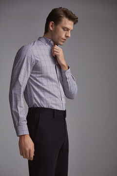 Pedro del Hierro Tech Non-Iron cotton shirt Grey