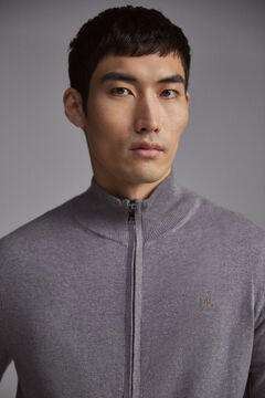 Pedro del Hierro Zip-up cardigan Grey