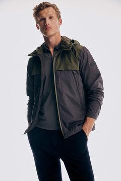 Pedro del Hierro Hooded jacket Grey