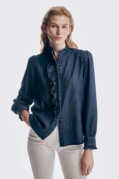Pedro del Hierro TENCEL® Lyocell denim shirt Blue