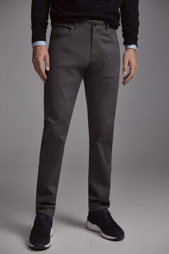 Pedro del Hierro Slim fit coloured micro print 5-pocket trousers  Grey
