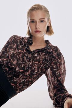 Pedro del Hierro Printed blouse Beige