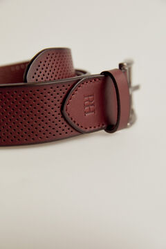 Pedro del Hierro Perforated leather belt Brown