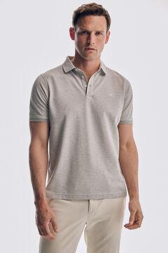 Pedro del Hierro Short sleeve polo shirt Grey
