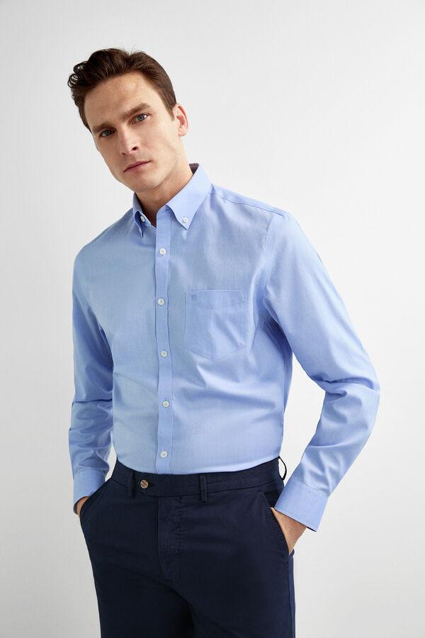 fd0586f09c3 Pedro del Hierro Camisa non-iron classic fit Azul