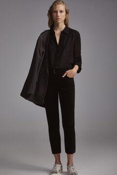 Pedro del Hierro Velvet skinny jeans Black