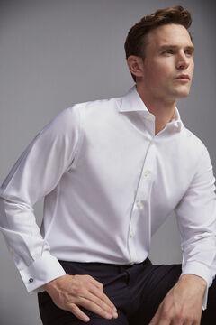 Pedro del Hierro Camisa de vestir tech-non iron gemelos classic White