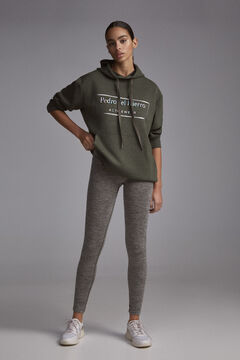 Pedro del Hierro Melange effect seam-free shaping leggings Green