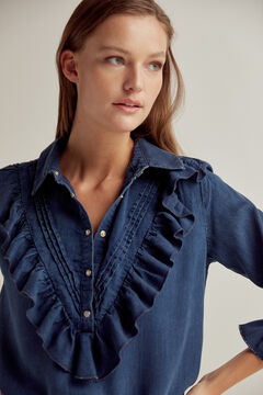 Pedro del Hierro 100% Tencel® denim blouse Blue