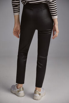 Pedro del Hierro Faux leather leggings Black