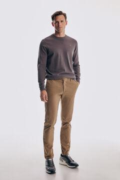 Pedro del Hierro Cotton crew neck jumper Grey