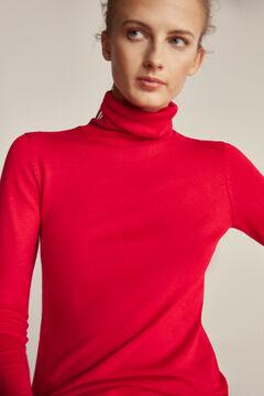 Pedro del Hierro Essential polo neck jumper Red
