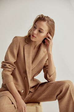 Pedro del Hierro Blazer with false crossover Beige