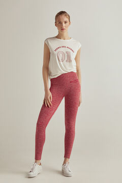 Pedro del Hierro Seam-free shaping leggings Red