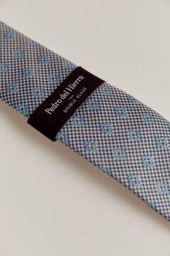 Pedro del Hierro Patterned tie Blue