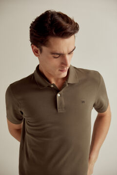 Pedro del Hierro Short-sleeved polo shirt with PdH logo Grey