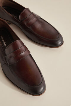 Pedro del Hierro Leather sole loafer Brown