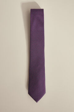 Pedro del Hierro Textured jacquard tie Pink