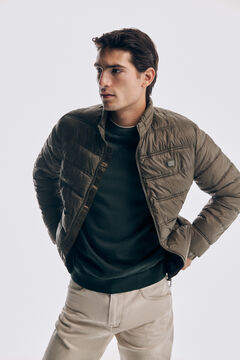 Pedro del Hierro Ultralight quilted jacket Green