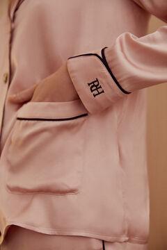 Pedro del Hierro Pijama satén vivos a contraste Rosa