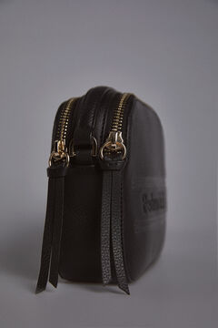 Pedro del Hierro Double crossbody bag with zip Black