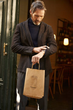 Pedro del Hierro Lined jersey-knit blazer Grey
