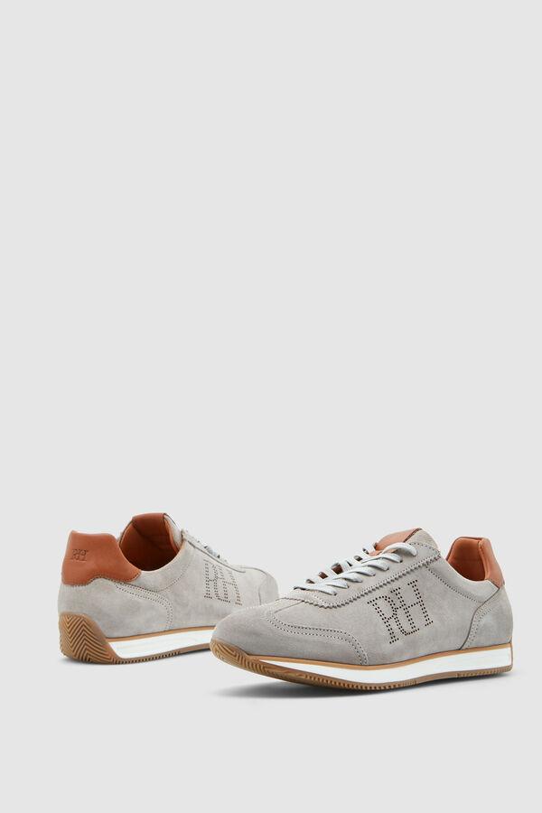 61ba3fbf952 Pedro del Hierro Sneaker icono serraje Gris