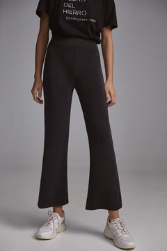 Pedro del Hierro Melange technical fabric trousers Black