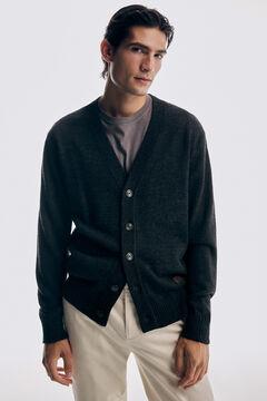 Pedro del Hierro Button-up cardigan Grey
