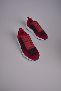 Pedro del Hierro Sneaker piel piso goma Rojo