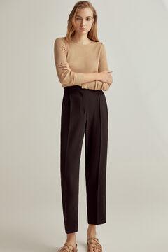 Pedro del Hierro Floaty trousers with pleats Black