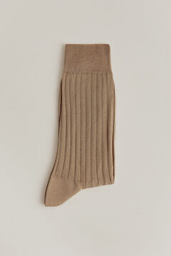 Pedro del Hierro Plain dress socks Beige