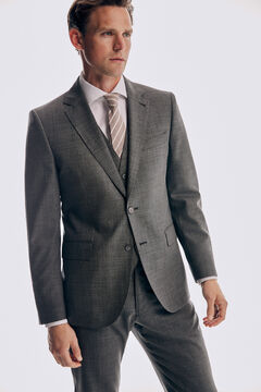 Pedro del Hierro Tailored fit grey trousers Grey