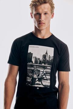 Pedro del Hierro Photo T-shirt Black
