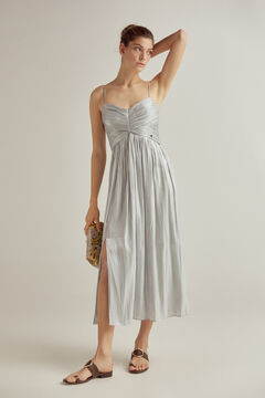 Pedro del Hierro Draped V-neck dress Pink