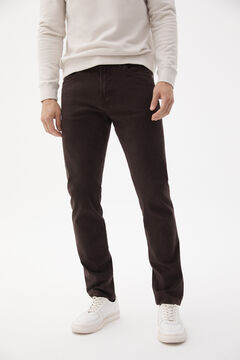 Pedro del Hierro Slim fit coloured Cashmere Touch 5-pocket jeans Brown