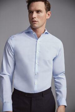 Pedro del Hierro Camisa de vestir tech-non iron falso liso tailored Blue