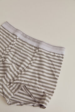 Pedro del Hierro Striped jersey-knit boxers Grey