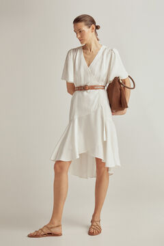 Pedro del Hierro Short crossover dress White