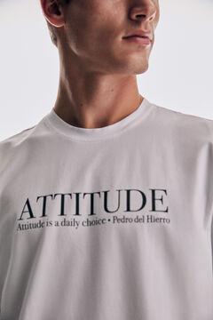 Pedro del Hierro Short-sleeved slogan t-shirt White