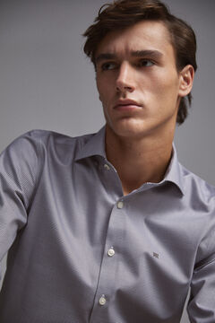 Pedro del Hierro Camisa de vestir Tech Non-Iron microcuadros tailored Gris