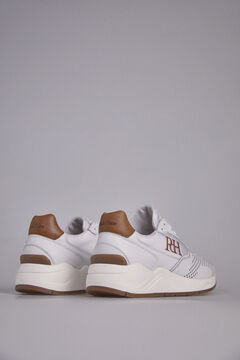 Pedro del Hierro Leather sneaker rubber floor White